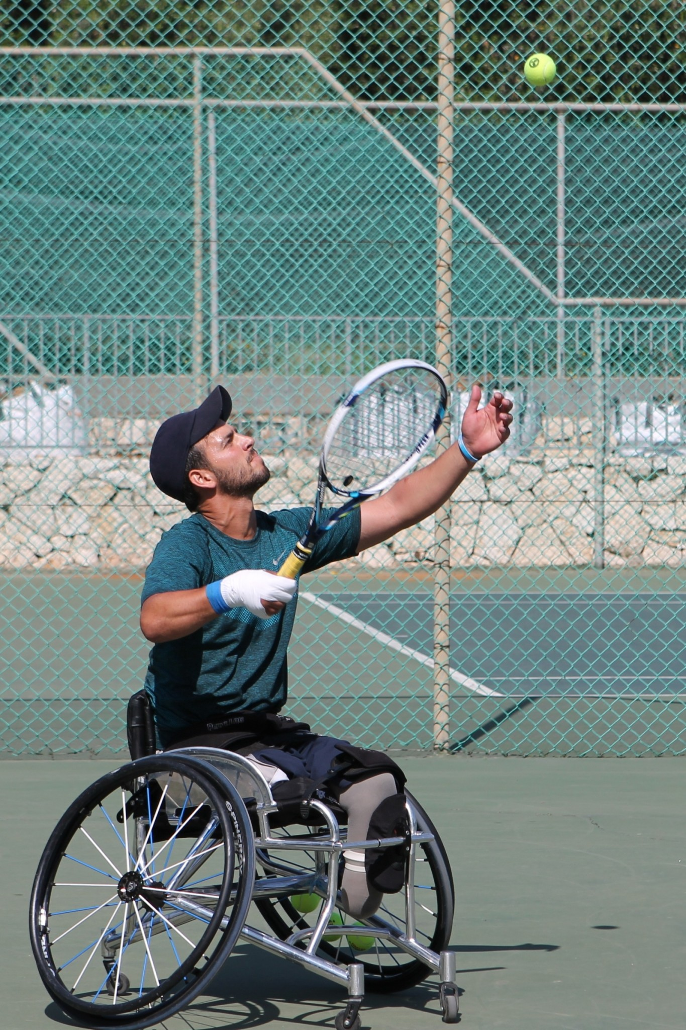 Itay Erenlib, 31, will play wheelchair tennis doubles with Paralympics veteran Shraga Weinberg, 50. Photo by Keren Isacson