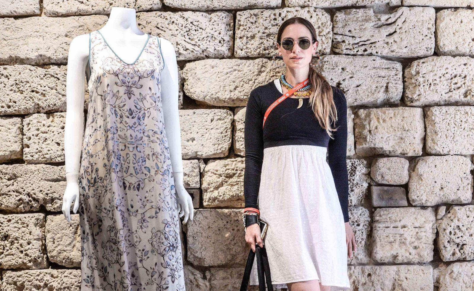 Rebekah Price of Toronto at the Maskit Israeli luxury label showroom in Old Jaffa. Photo by Aviram Valdman