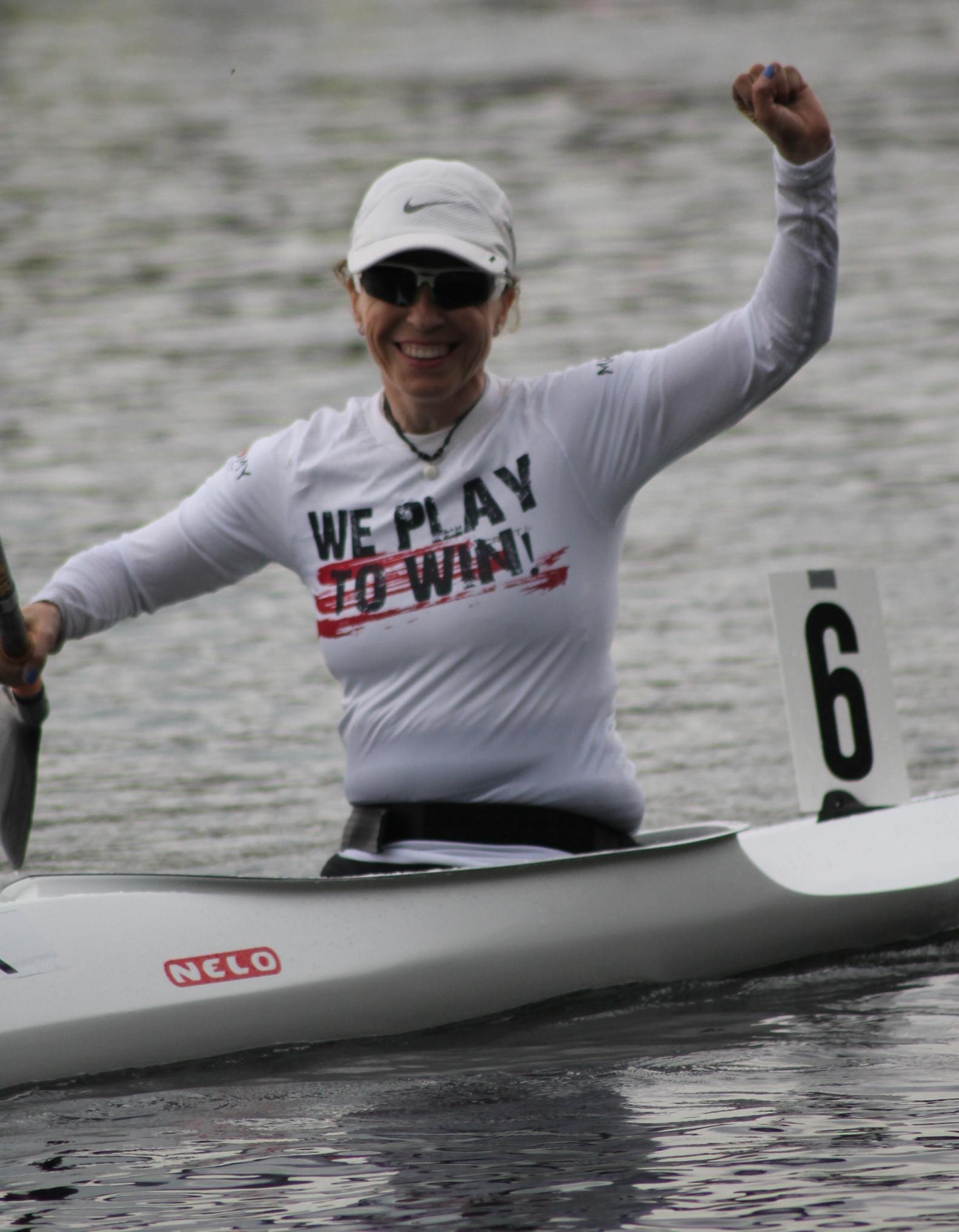 Kayaker Pascale Berkowitz. Photo by Ido Lavi