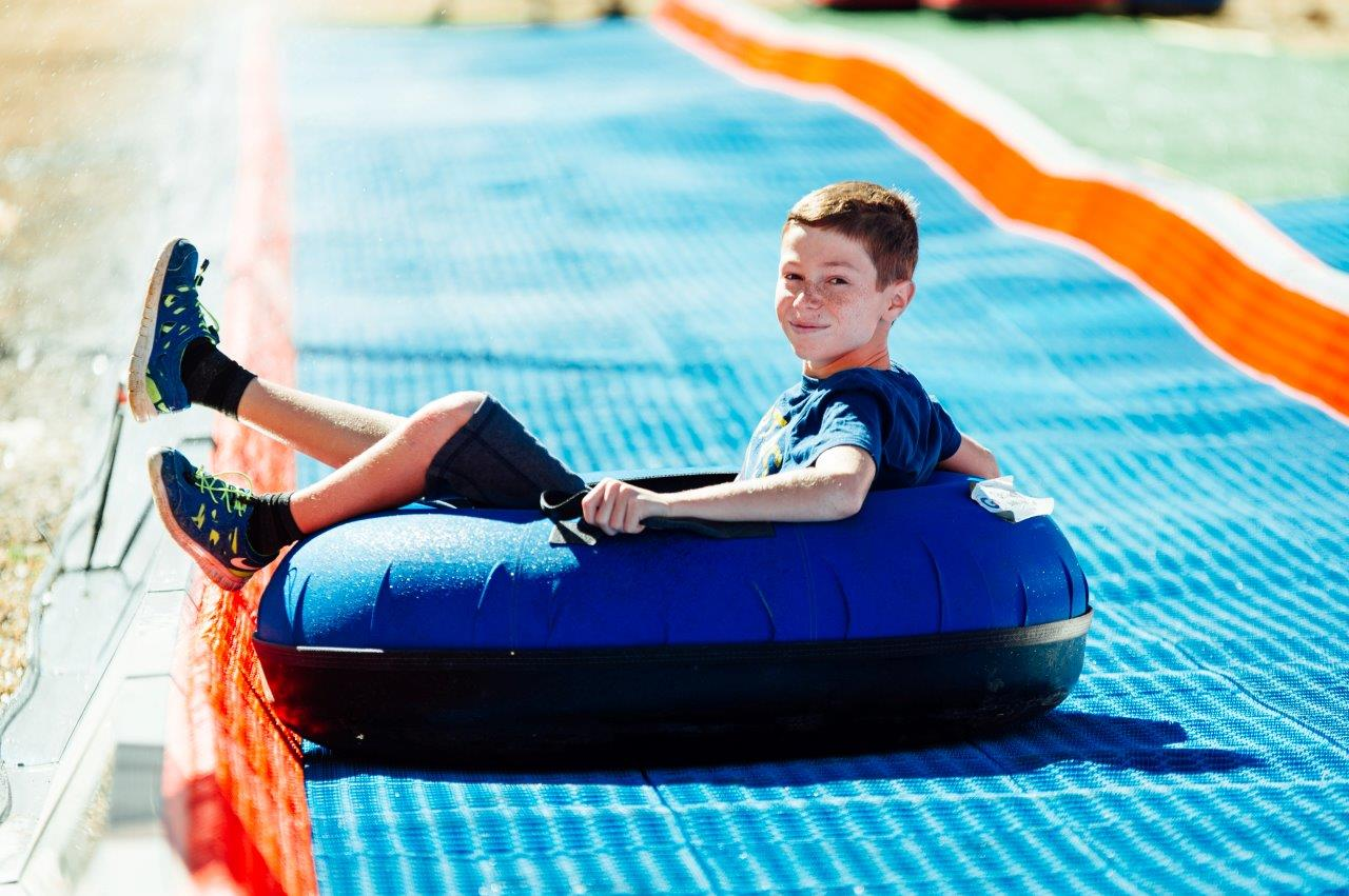 Summer tubing is a new attraction at Mount Hermon. Photo by Adi Peretz