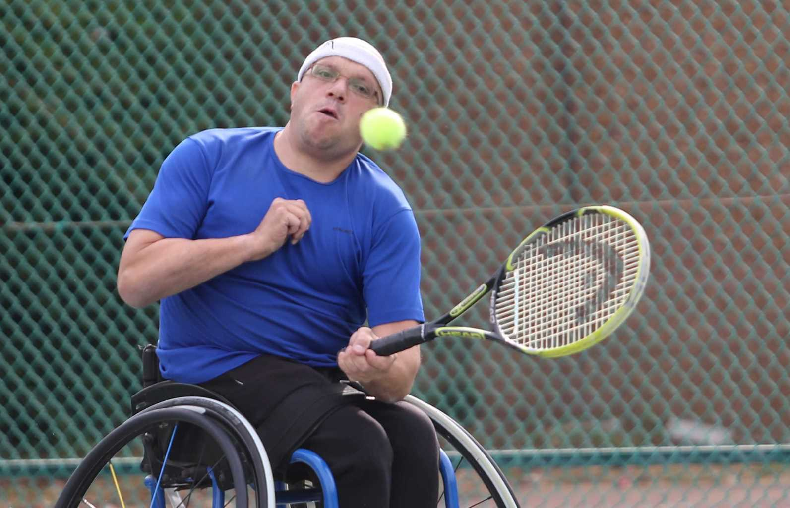 Tennis player Shraga Weinberg, heading to his fourth Paralympics. Photo by Nimrod Glockman
