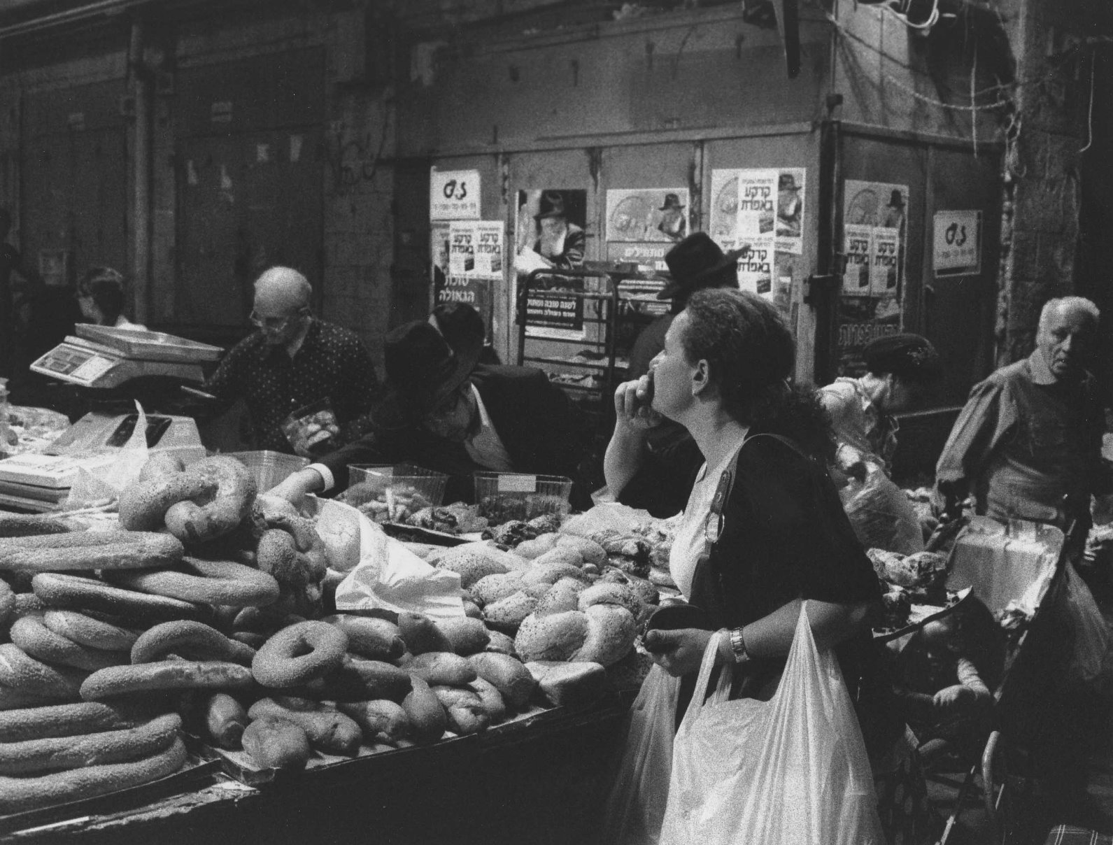 Woman in Machane Yehuda market. Photo by Paul Margolis