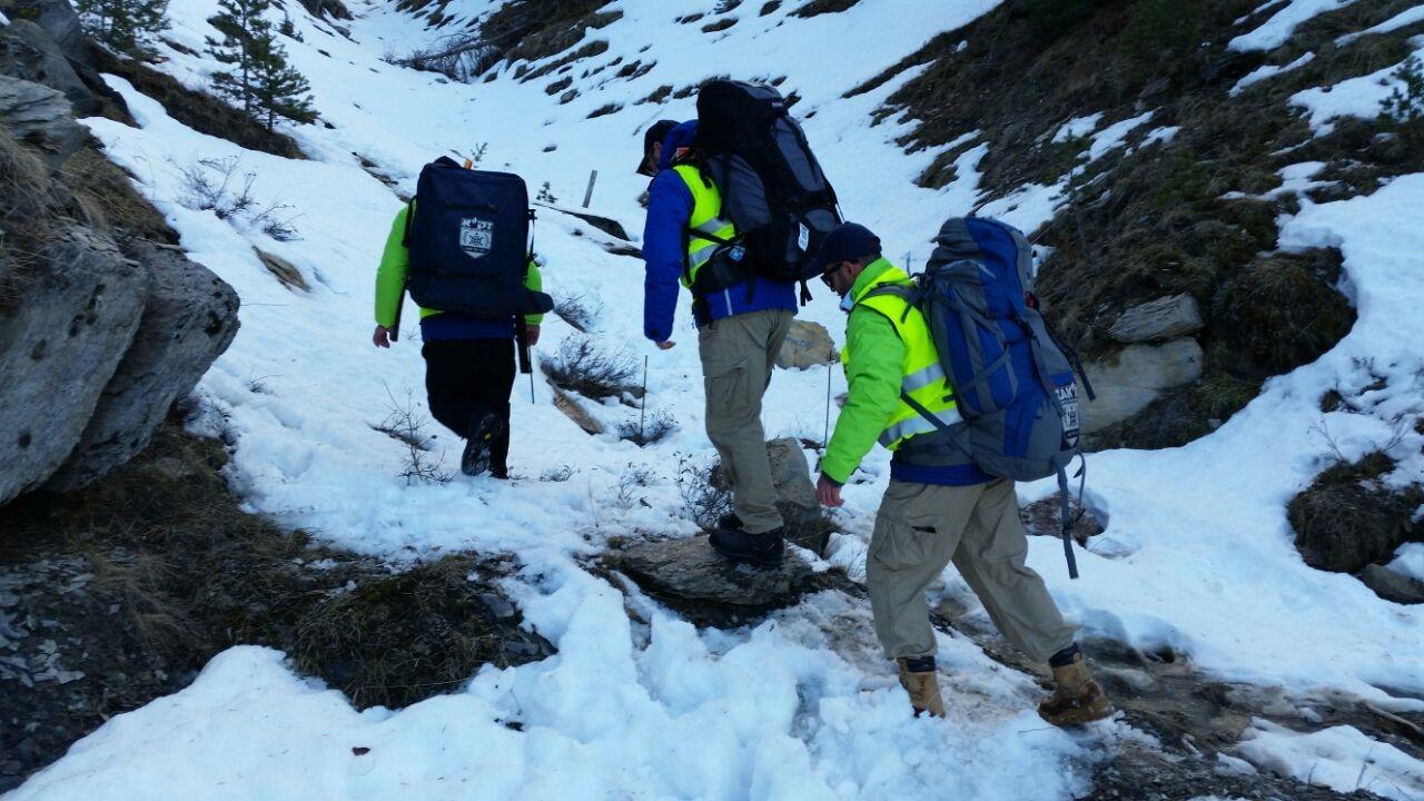 ZAKA volunteers at the Germanwings crash site. Photo: courtesy