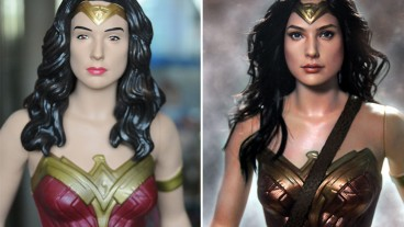 Wonder Woman - doll repaint.
