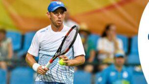 Tennis player Dudi Sela. Photo via Israel Olympic Committee/Facebook