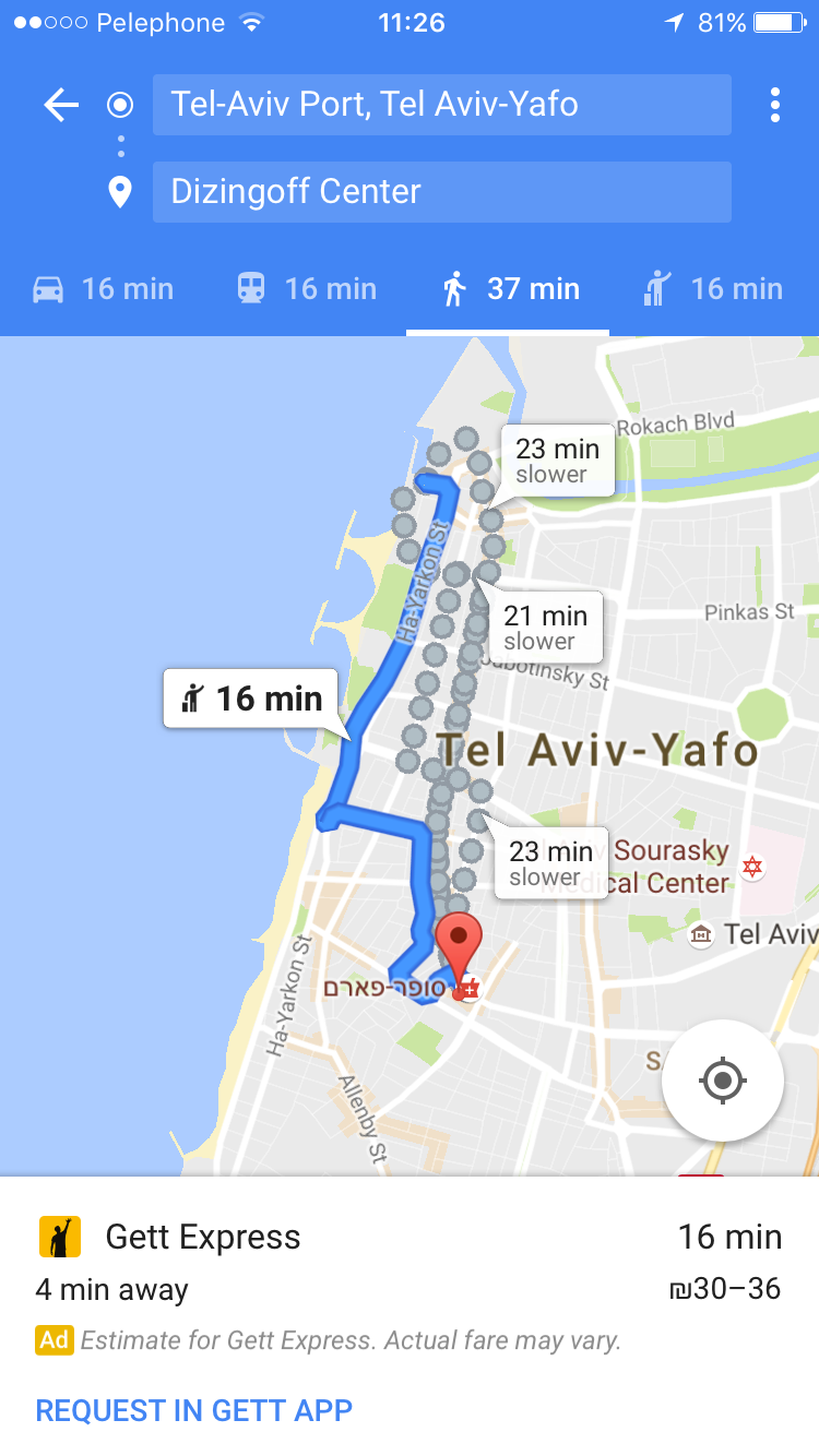 Gett teams up with Google Maps | ISRAEL21c