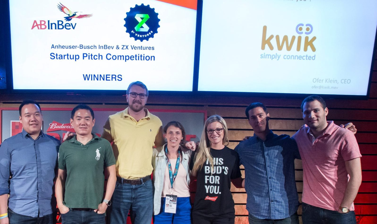 Kwik was a finalist at the 2016 ABInBev startup competition. Photo via Facebook