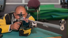 Paralympic shooter Doron Shaziri. Photo by Raz Livnat