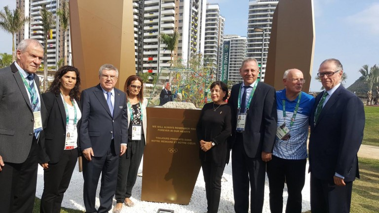 First IOC-led memorial ceremony for Israelis murdered in 1972 Games took place on August 3, 2016 at the Olympic village in Rio de Janeiro. Photo via Facebook