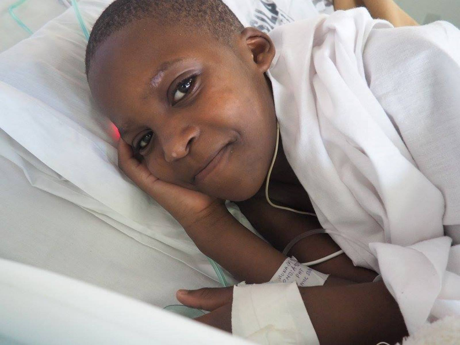 Zahara was the first catheterization patient of the March 2016 SACH mission to Tanzania. Photo courtesy of SACH