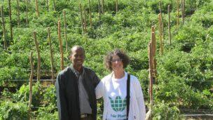 Fair Planet volunteer Shoshan Haran introduces Israel's cutting-edge seed technology. Photo by /Fair Planet