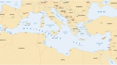 Map of the Mediterranean Sea. Photo via Shutterstock.com