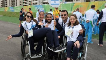 Israeli Paralympians in Rio. Photo via Israel Paralympic Committee/Facebook