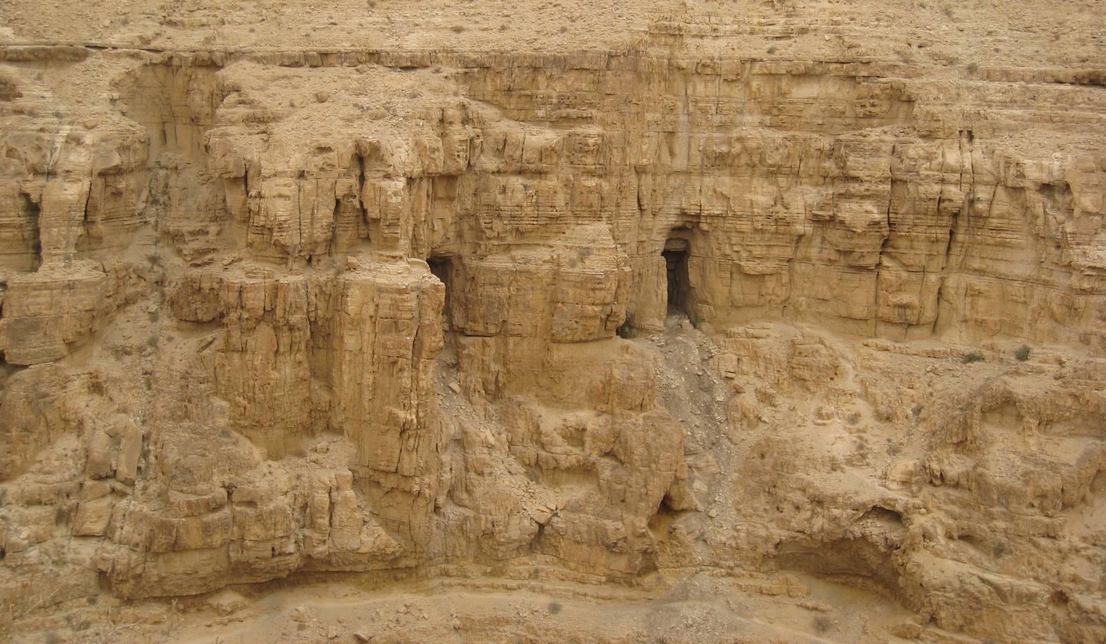 Caves at Nahal Dragot. Photo by Brian Blum