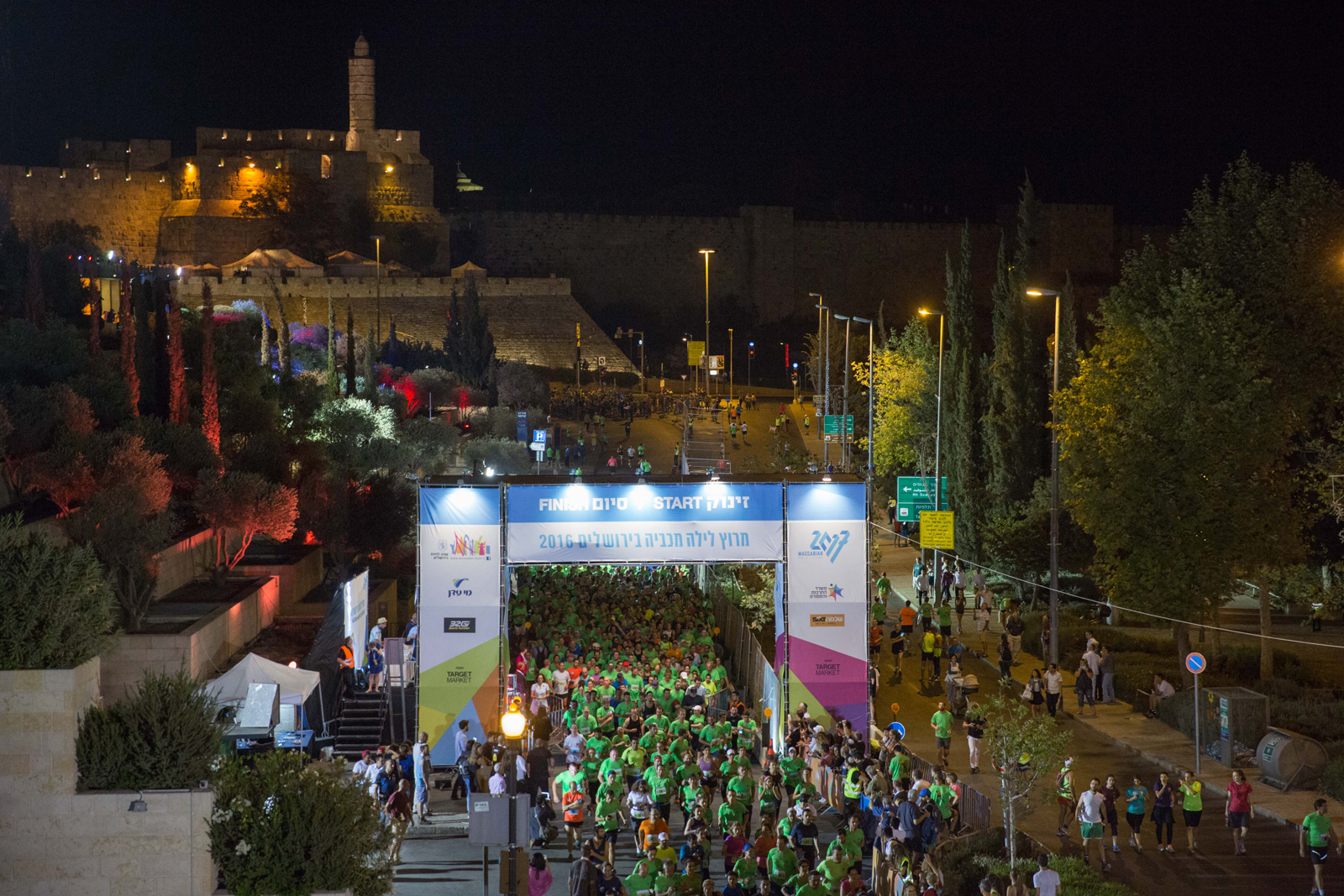 Jerusalem Maccabiah Night Run. Photo by Hadas Parush/Flash90