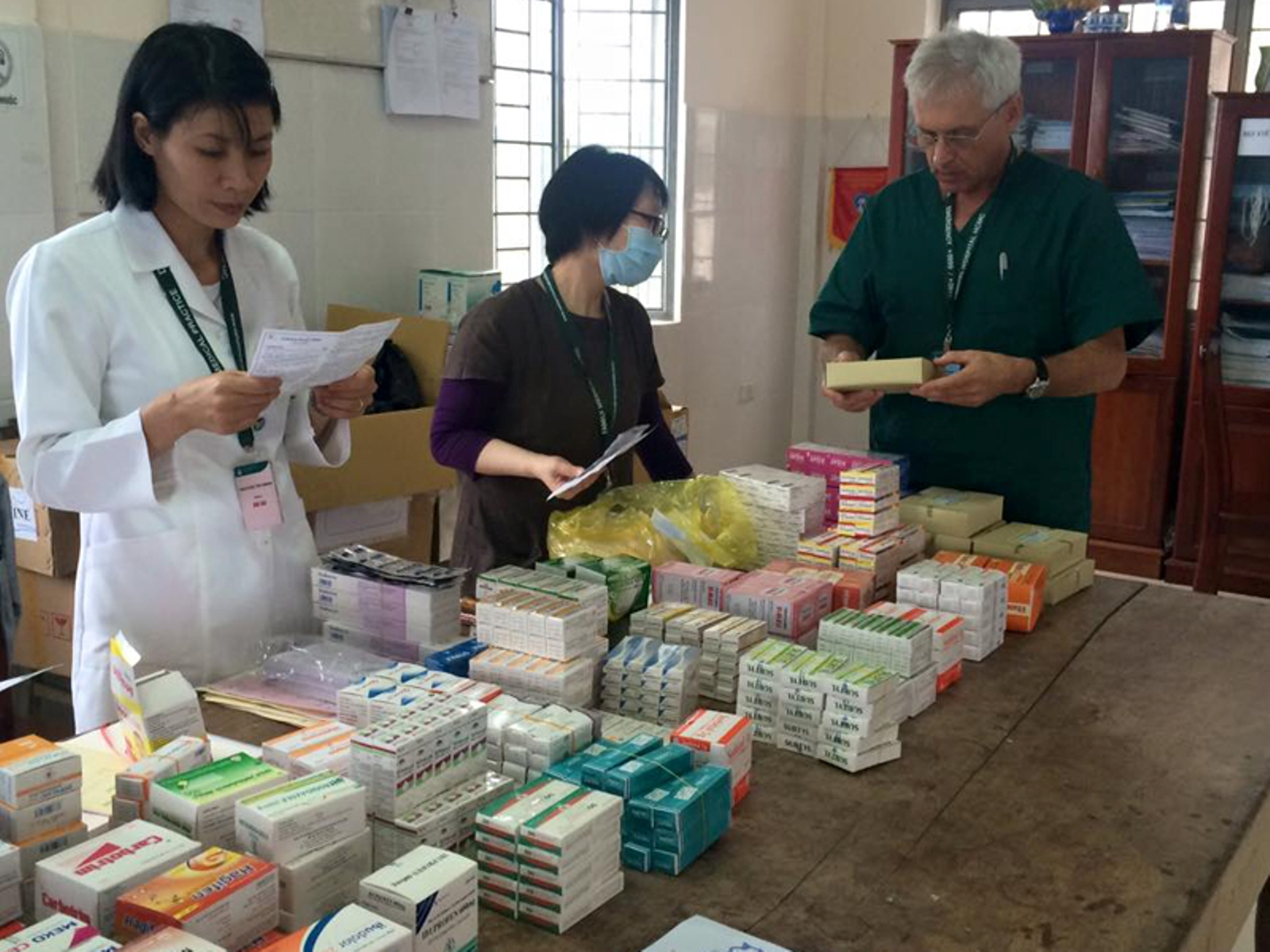 In each place visited during the mission, the embassy and FMP set up medication rooms. Photo courtesy of Israeli Embassy in Vietnam