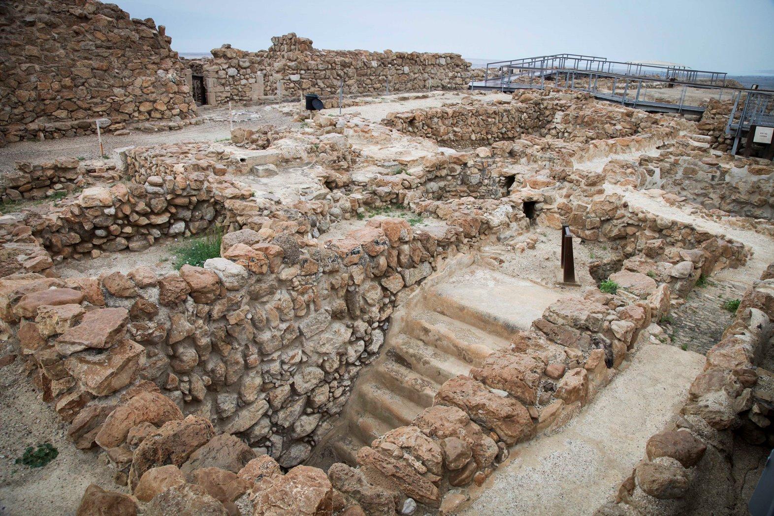 The archeological site at Qumran. Photo by Isaac Harari/FLASH90