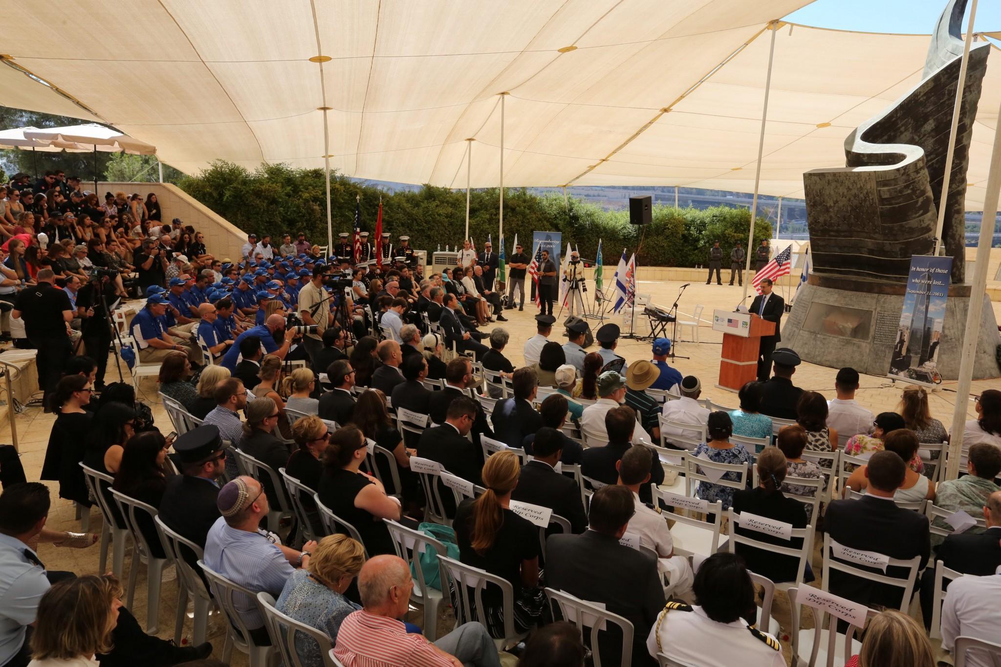 KKL/JNF Living Memorial ceremony, September 11, 2016. Photo by Yossi Zamir/ KKL-JNF