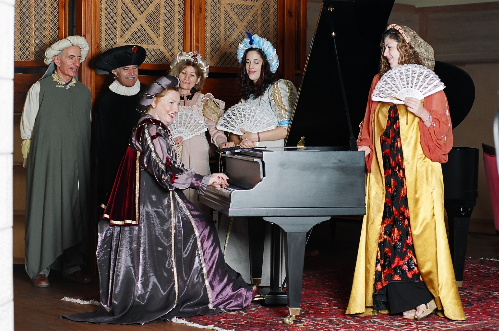 Guests at Casa Dona Gracia dressed in period costumes for a souvenir snapshot. Photo: courtesy