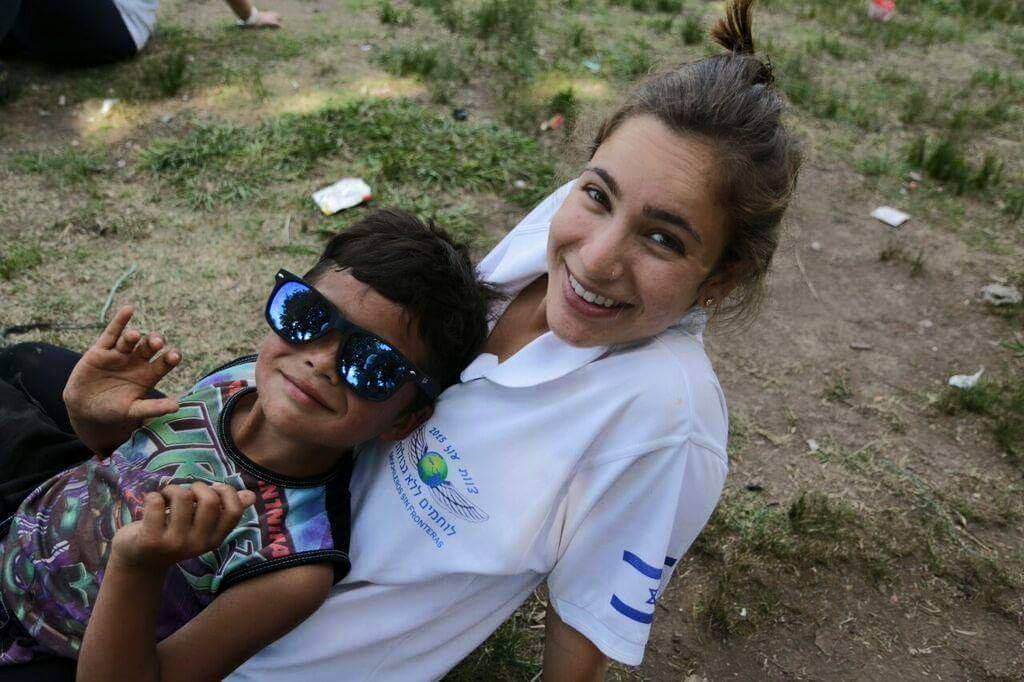 Fighters for Life volunteer Maayan Peleg in Buenos Aires. Photo courtesy of FFL