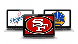 US sports leagues seek Israeli technologies. Illustration uses logos of 49ers, Dodgers, Warriors/vector by Shutterstock.com/graphic layout by Viva Sarah Press for ISRAEL21c