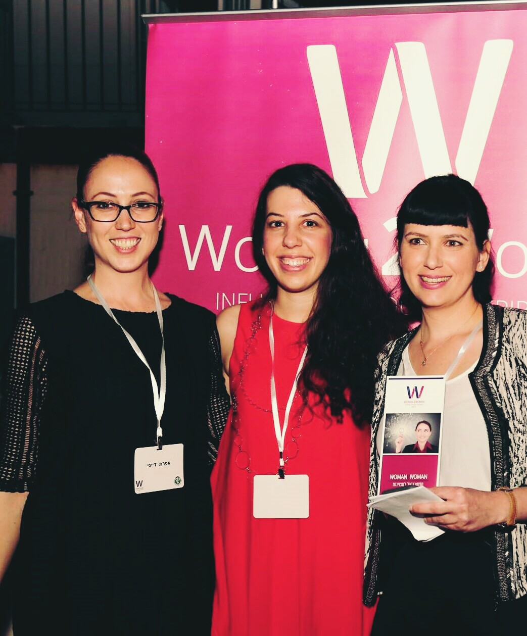 Woman2Woman cofounders, from left, Efrat Dayagi, Keren Herscovici and Noya Lempert. Photo: courtesy