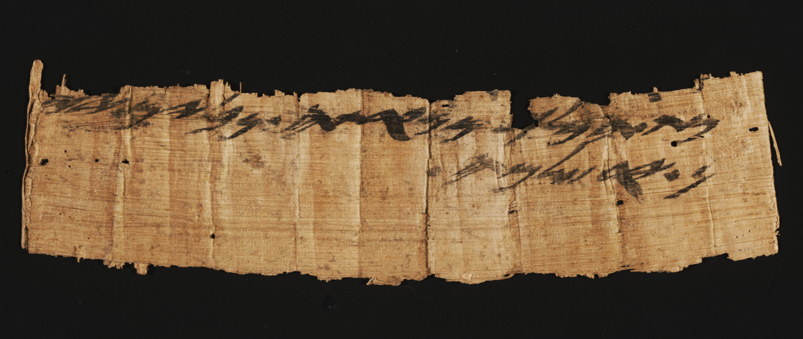 The rare document from the time of the First Temple. Photo by Shai Halevi, courtesy of the Israel Antiquities Authority.
