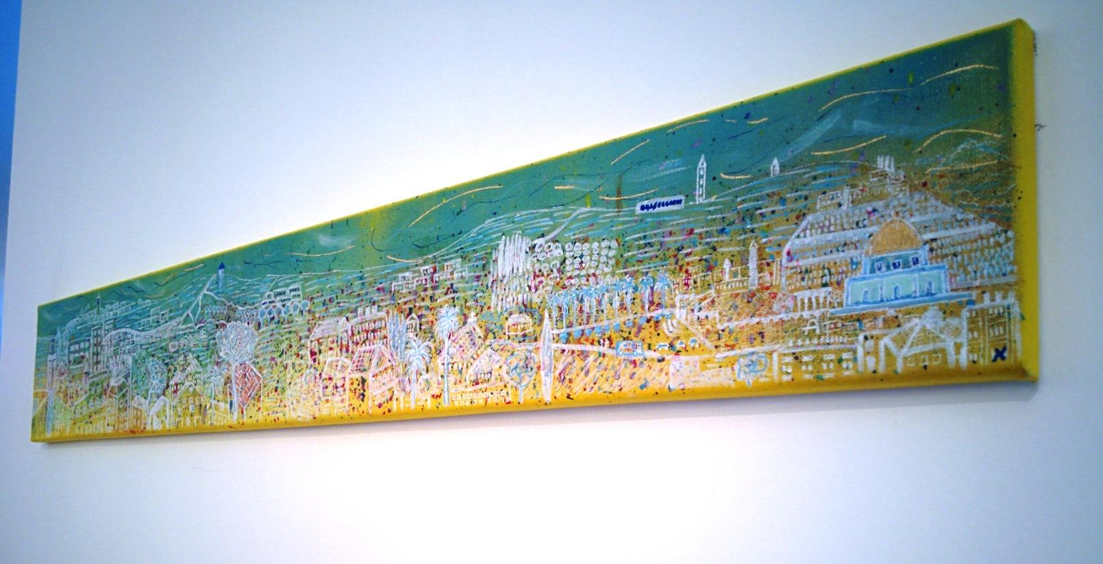 Ari Marache's interpretation of the view. Photo by Abigail Klein Leichman