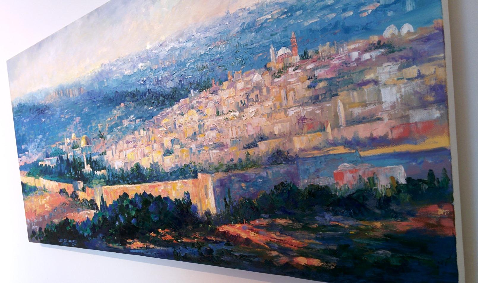 One of Menucha Yankelevitch's interpretations of the view. Photo by Abigail Klein Leichman
