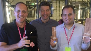 Comprendi team celebrates win at Twitter #Promote Ads API Challenge. Photo via Twitter