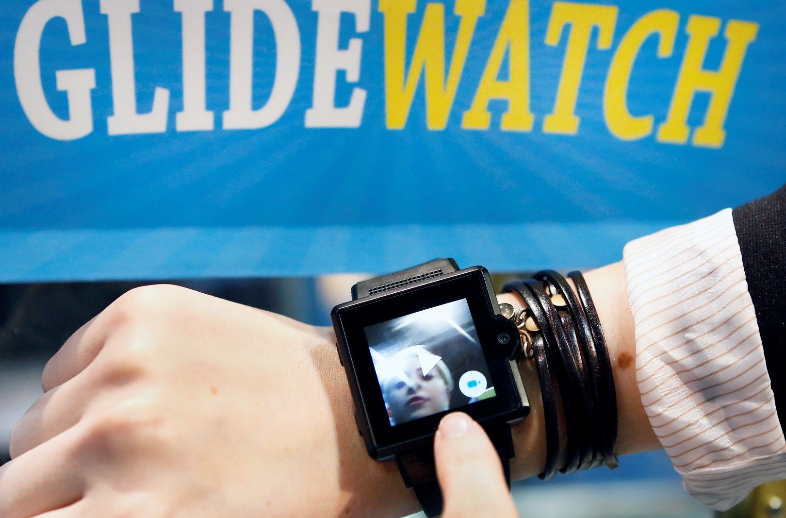 Glide's video messaging app is built into the Apple Watch. Photo: courtesy