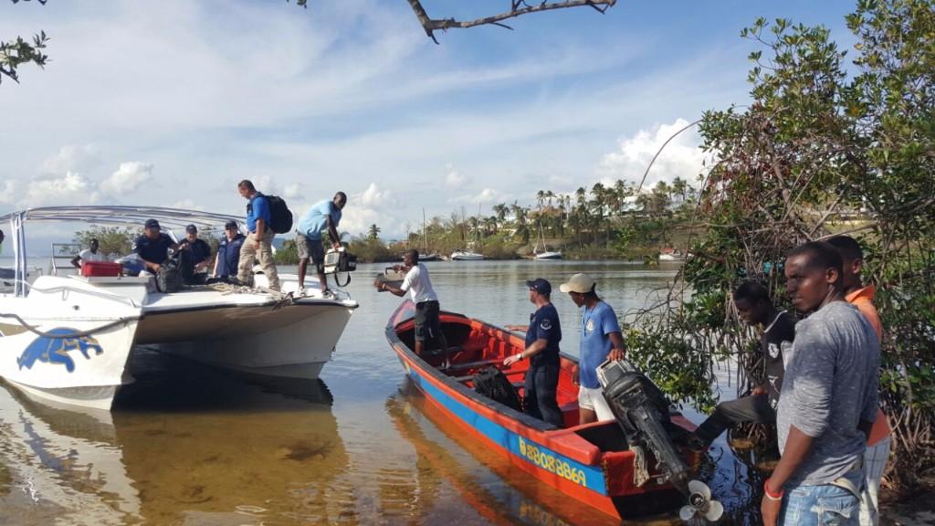 Jet911's joint teams bringing medical equipment to Haiti. Photo courtesy of United Hatzalah