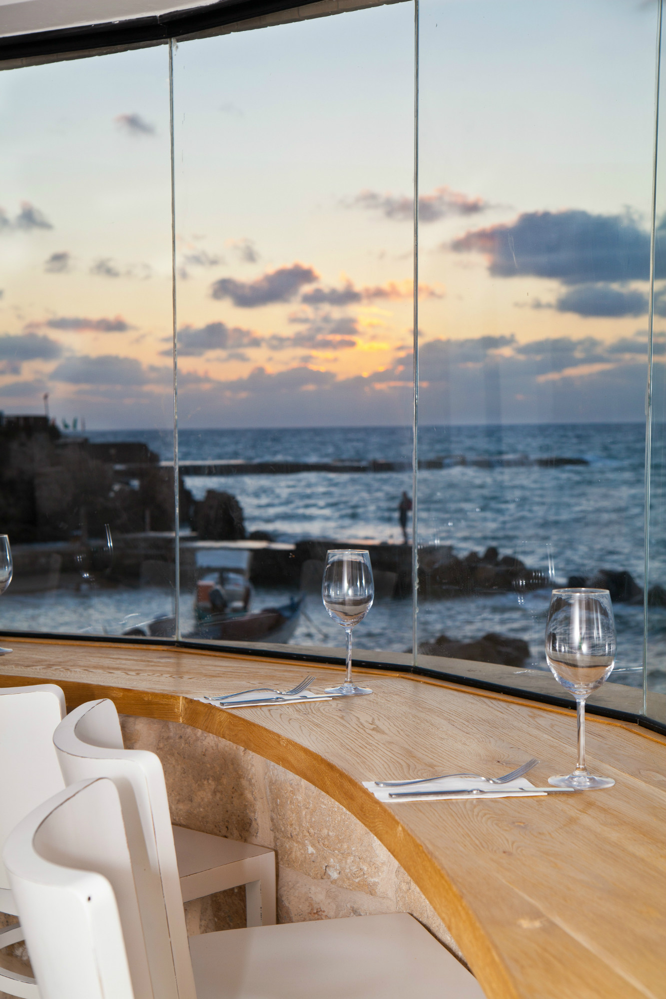 View from Helena restaurant in Caesarea. Photo: courtesy