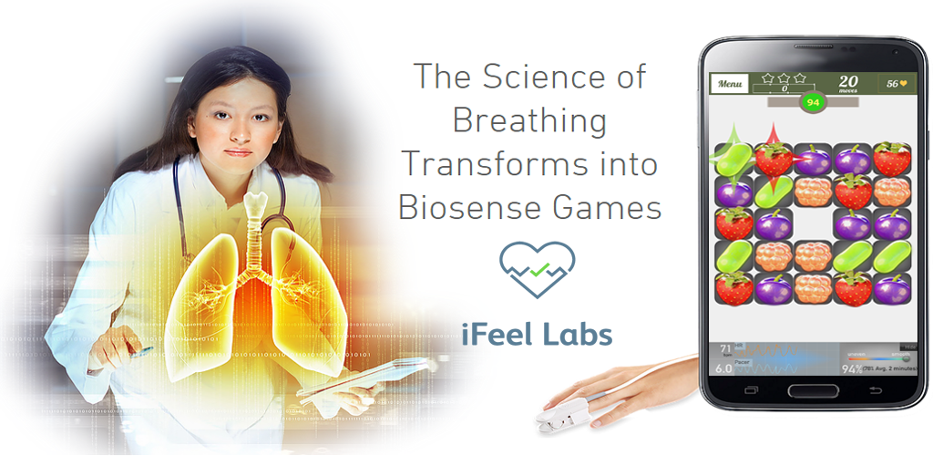 iFeel makes an app and wearable oximeter to turn asthma management into a game. Photo: courtesy