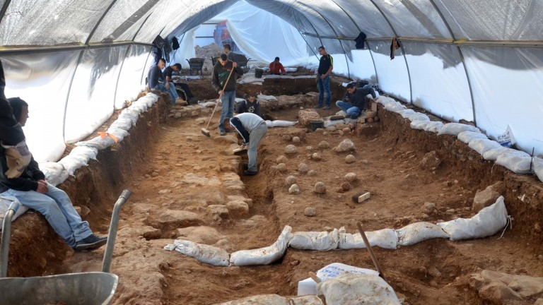 Israel Antiquities Authority excavation site in the Russian Compound of Jerusalem where scientists uncovered the Third Wall that surrounded the city in 70 CE. Photo by Yoli Shwartz/Israel Antiquities Authority