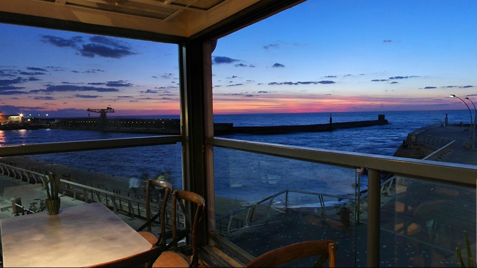 Kitchen Market's view over the Tel Aviv shore. Photo: screenshot