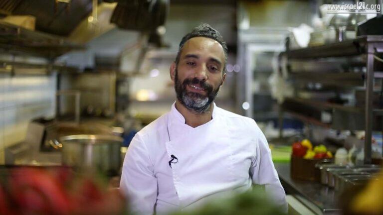 Chef Moti David of Adom Restaurant in Jerusalem. Screenshot