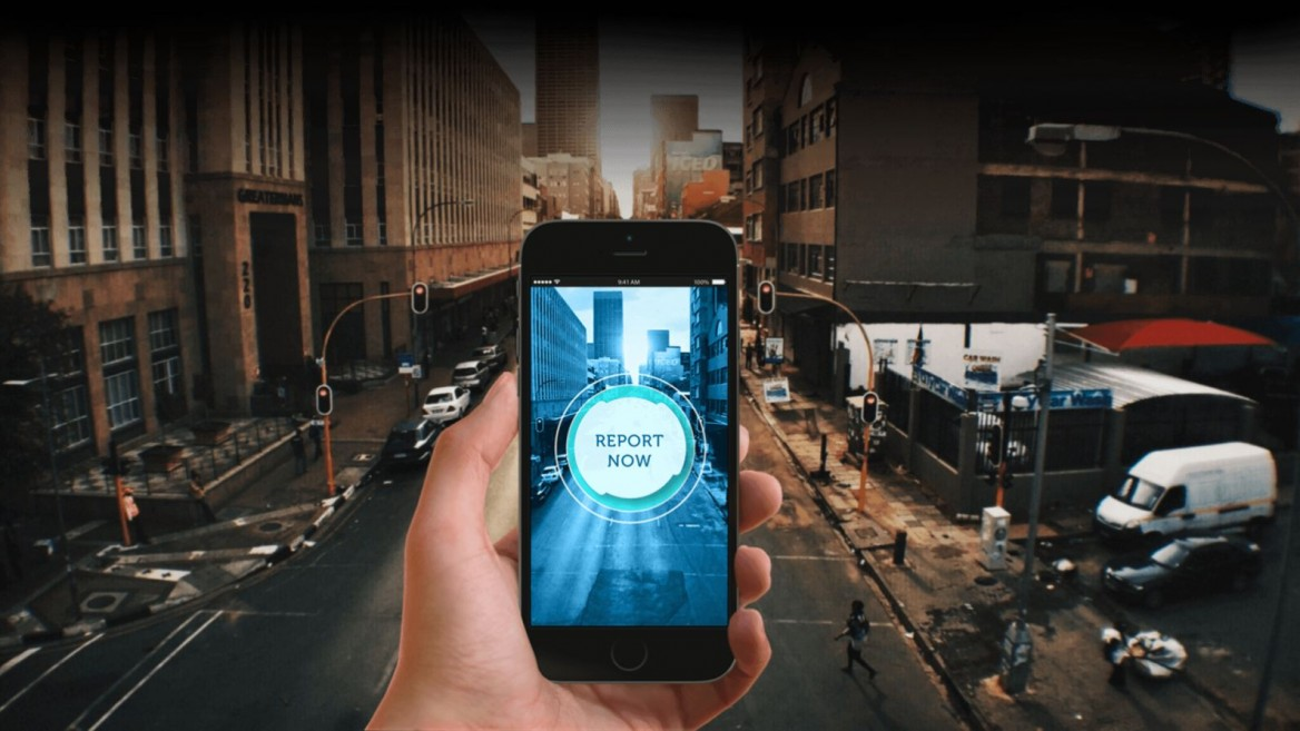 Reporty connects smartphone users instantly to emergency call centers and can give dispatchers vital audio and video information. Photo: courtesy