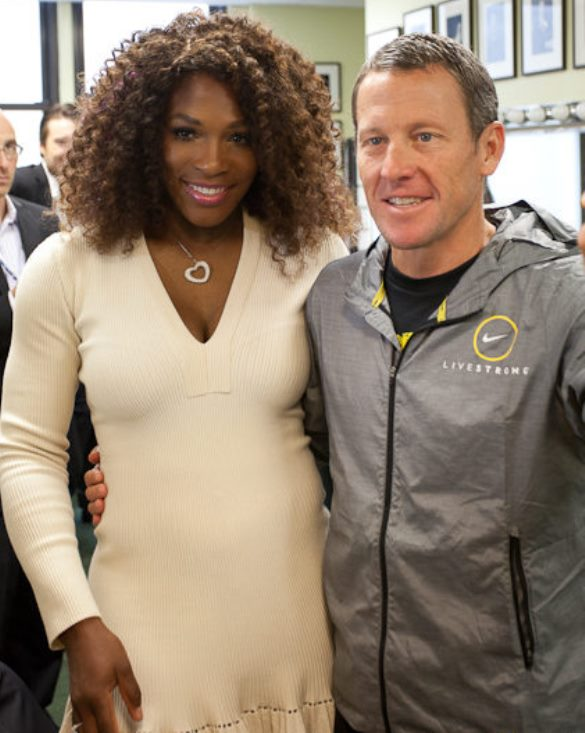 Serena Williams and Lance Armstrong at a Social Good Summit. Photo via Feedblitz.com