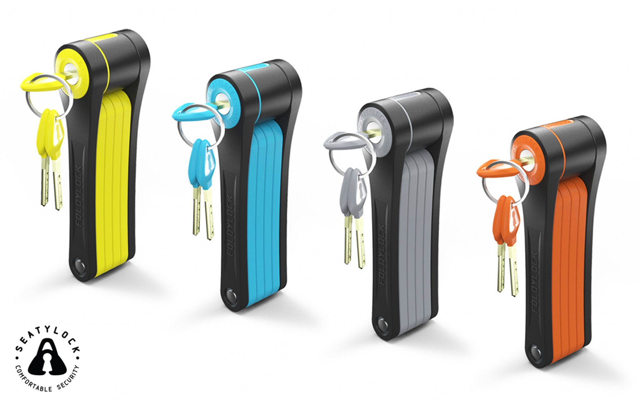 Foldilock from Seatylock comes in an assortment of colors. Photo: courtesy
