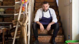 Chef Assaf Granit of Jerusalem's Machneyuda restaurant. Photo by Yahav Yaakov
