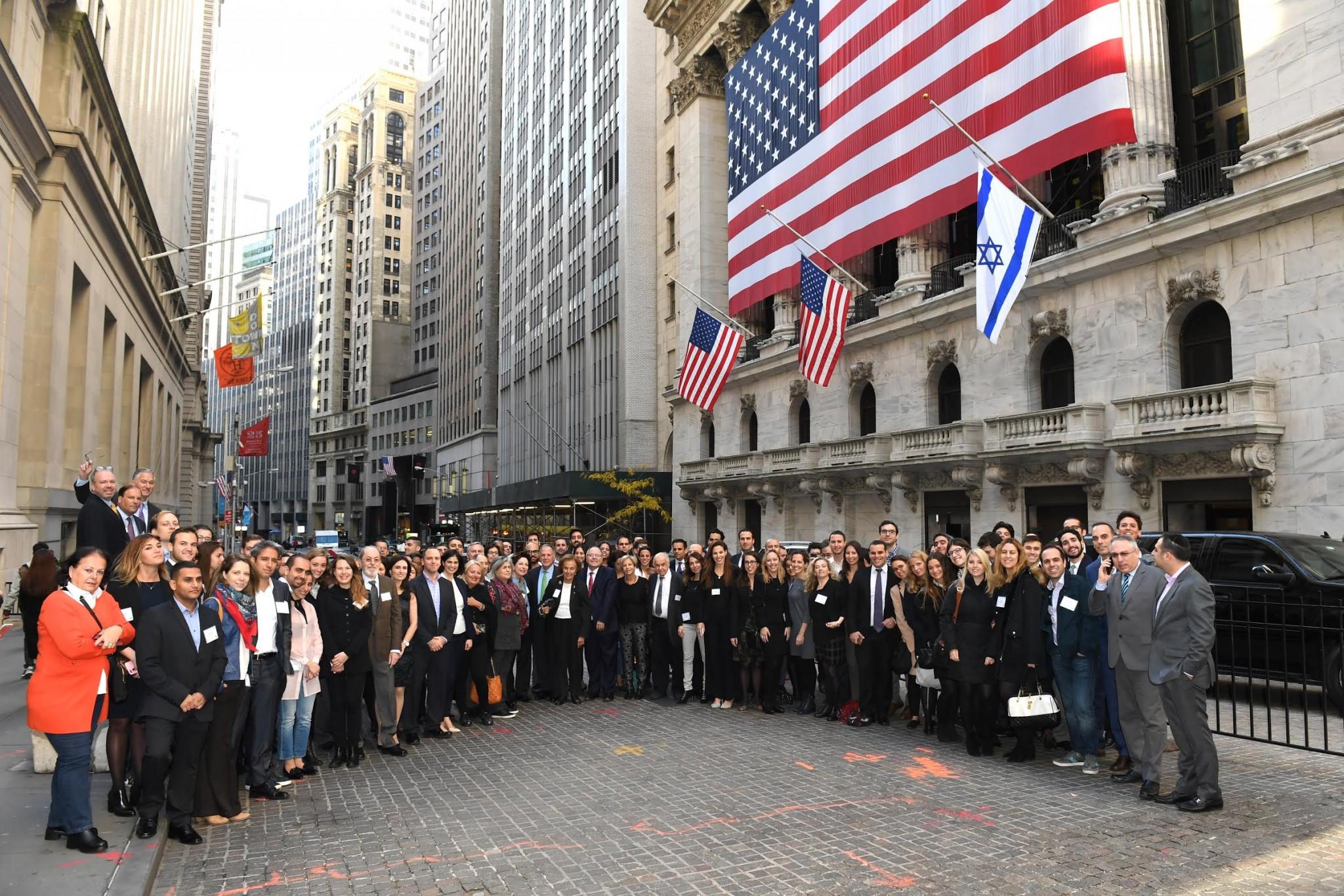 Israel Day at the NYSE. Photo by Shahar Azran