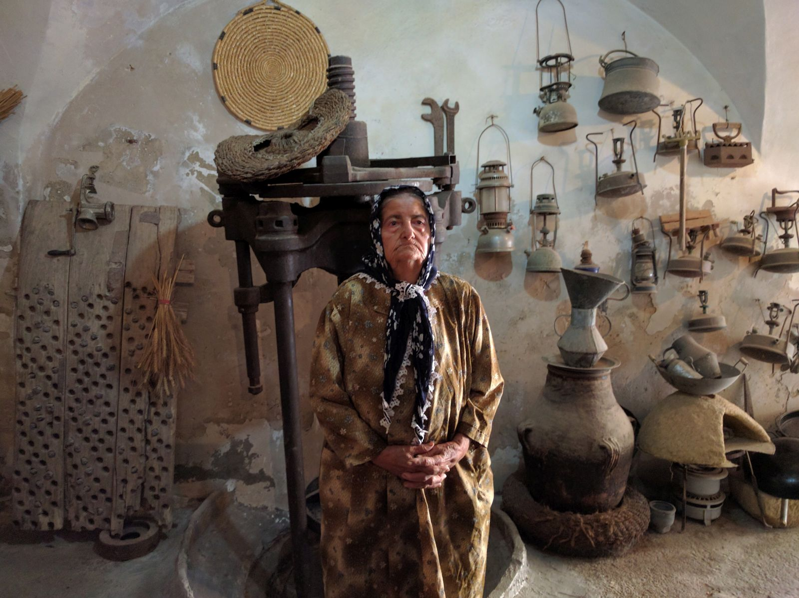 Nagma Huri welcomes visitors to her Deir Hanna olive press. Photo by Viva Sarah Press