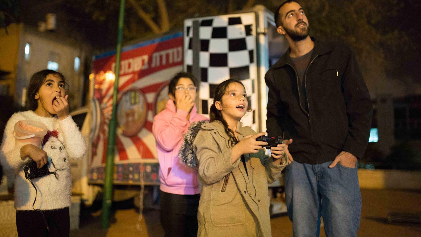 Residents enjoying a Zaza pop-up event in Jerusalem. Photo by Maxim Dinshtein
