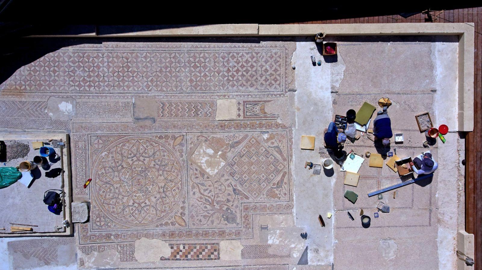 Mosaics on the roof of the IAA National Campus. Photo by Ardon Bar-Hama