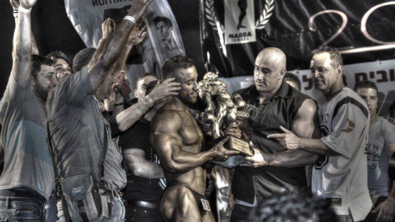 Kobi Ifrach of Zikhron Ya'akov celebrates Mr. Universe bodybuilding title. Photo via Facebook
