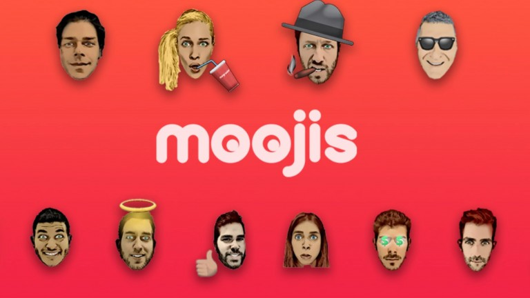 Moojis are personalized emojis. Image: courtesy