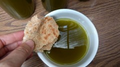 Olive-oil tasting at Deir Hanna. Photo by Viva Sarah Press