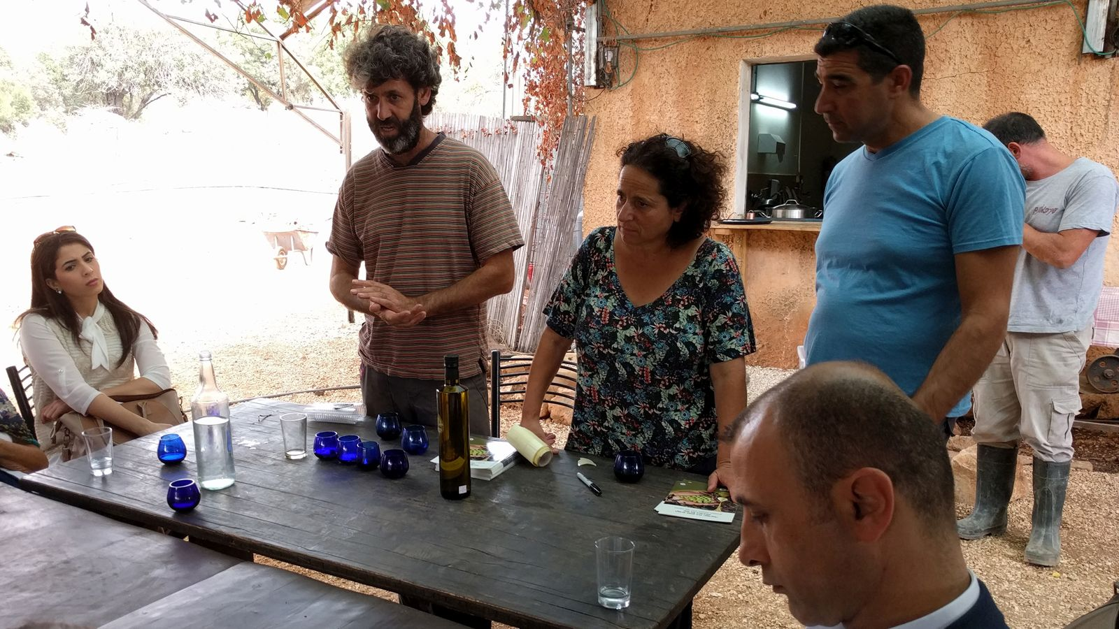 Oil tastings at Ein Camonim. Photo by Viva Sarah Press