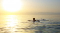 Can you swim across the Dead Sea? Photo via Shutterstock.com